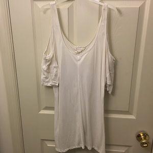 BCBGeneration white open shoulder blouse shirt